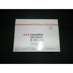 100 piece folded filter, Schleicher & Schüll, Ø 320 mm Filter Nr 1573 1/2 eig