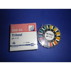 Tritest indicator papers pH 1-11 reel of 5 m x 10 mm MA 90501