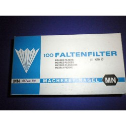 100 Stück FALTENFILTER Ø 15 cm Filter MN617we 1/4 MN 535015