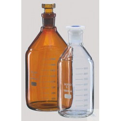 Laboratory bottle, amber colored 10000 ml stopper NS 29/32