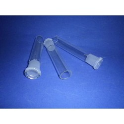 Sleeve made of borosilicate glass NS19 length 125mm pipe W 0102019