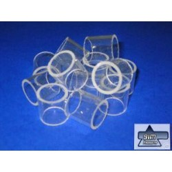 1.0 Kg RASCHIG RINGS made of glass 25 x 25 mm