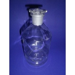 Narrow stand bottle 1000 ml, with stopper NS 29/32 clear