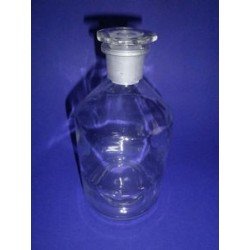 Narrow stand bottle 100 ml, with stopper NS 14/23 clear
