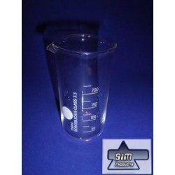 Beaker HF 25 ml of the spout, BORO