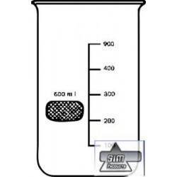 Beaker 600 ml, WITHOUT spout, BORO