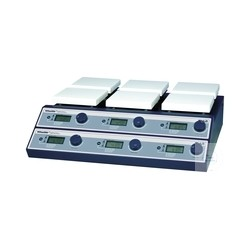 Multi-magnetic stirrer with heating 3x140x140mm 350°C 80-1.500 U/min keram
