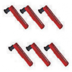 Replacement pens, P222 6 pieces, red for a Curve plotter C657