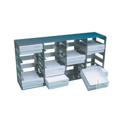 Frame with drawers RFU8SD stainless steel 12 compartments for SWUF-80