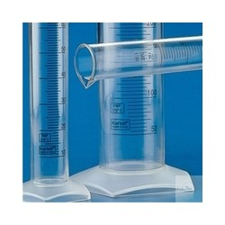 Measuring cylinder 10 ml subdivision, 0.2 ml of the Material PMP glass clear high Form