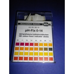 pH-Fix indicator sticks 0-14, pack of 100 sticks 6 x 85 mm MA 92110