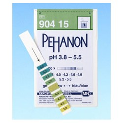 Pehanon pH 3,8 - 5,5 test strips box of 200 strips 11 x 100 mm MA 90415