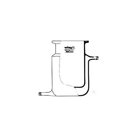 100ml NW60 reaction vessel with thermal jacket ungraduated