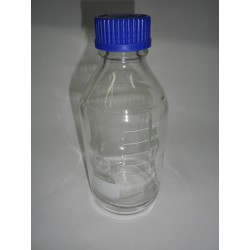 10 pieces DURAN laboratory bottle 1000 ml graduated with screw cap