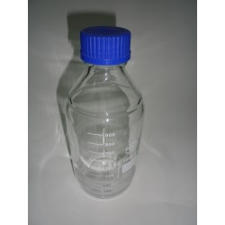 10 piece laboratory bottle 1000 ml, graduated, with screw cap and Ring