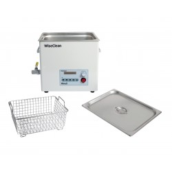 Ultrasonic bath digital 3.3 L up to 80°C frequency 40kHz with flat lid and basket