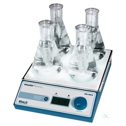 Multi-magnetic stirrer 2x2 Set 210x300mm 80-1.200 U/min 500ml/Stelle