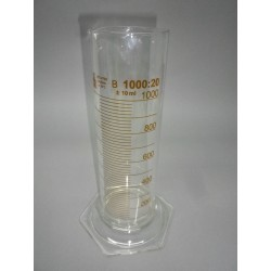 DURAN measuring cylinder, low Form 1000 ml : 20 ml of 6-square foot, class B